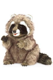Folkmanis Raccoon Hand Puppet - Front cropped