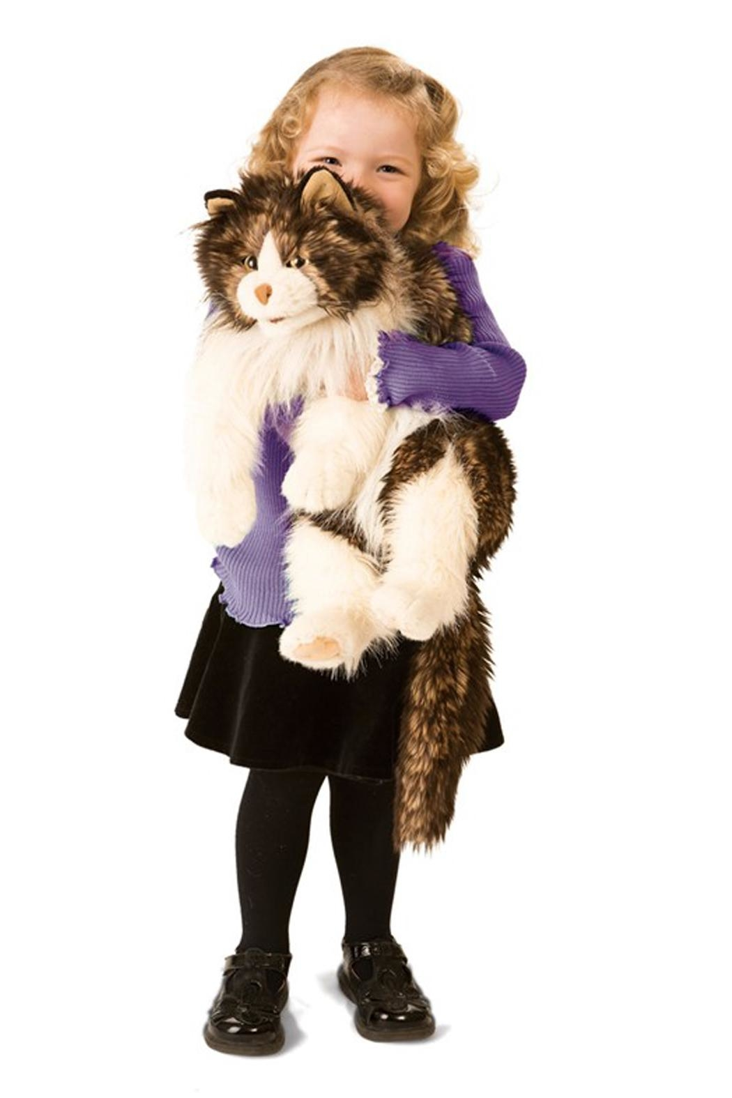 Folkmanis Ragdoll-Cat Hand Puppet - Front Full Image