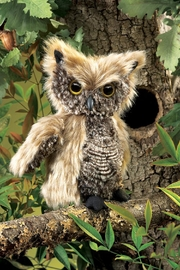 Folkmanis Screech-Owl Hand Puppet - Side cropped