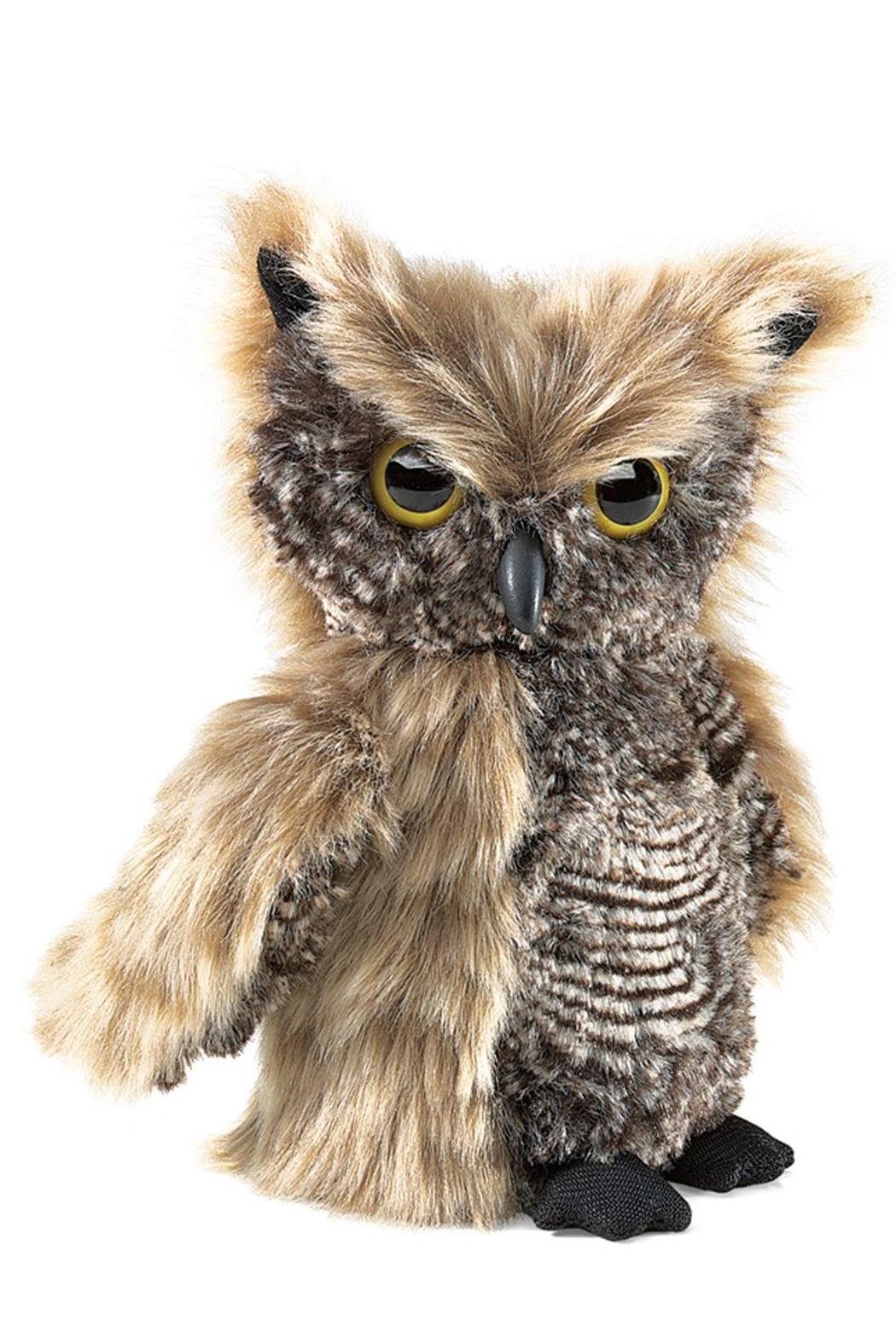 Folkmanis Screech-Owl Hand Puppet - Front Cropped Image