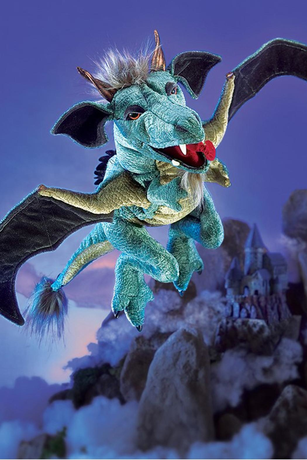Folkmanis Sky-Dragon Hand Puppet - Side Cropped Image