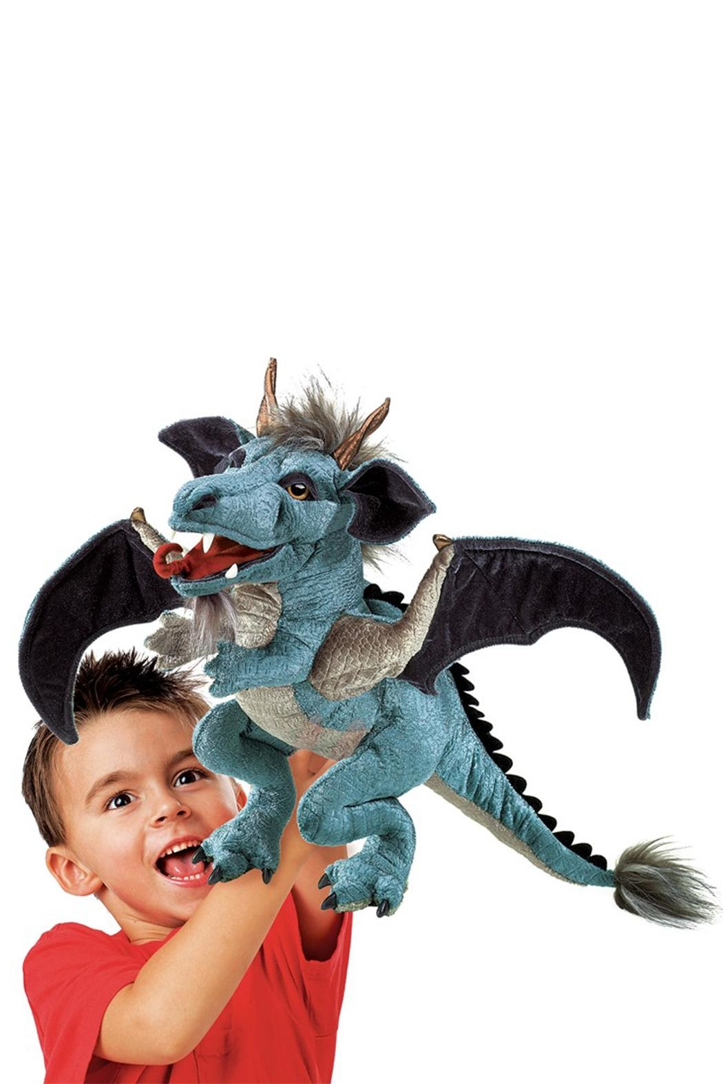 Folkmanis Sky-Dragon Hand Puppet - Front Full Image