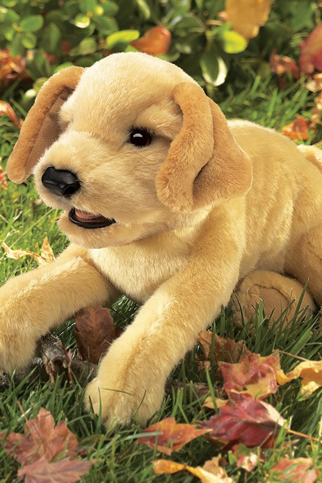 Folkmanis Yellow-Labrador-Puppy Hand Puppet - Side Cropped Image