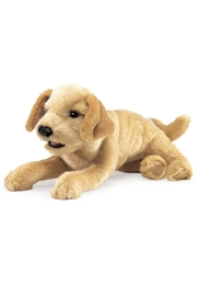 Folkmanis Yellow-Labrador-Puppy Hand Puppet - Front cropped