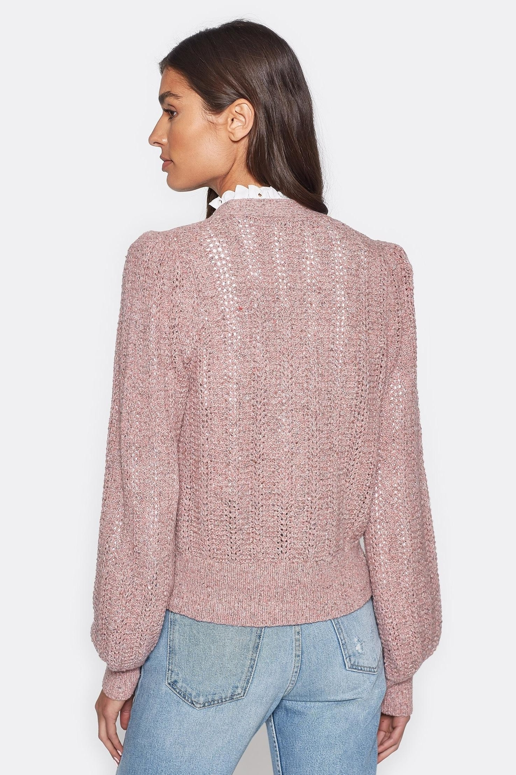 Folle de Joie Bilina Lilac Sweater - Back Cropped Image