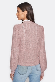 Folle de Joie Bilina Lilac Sweater - Back cropped