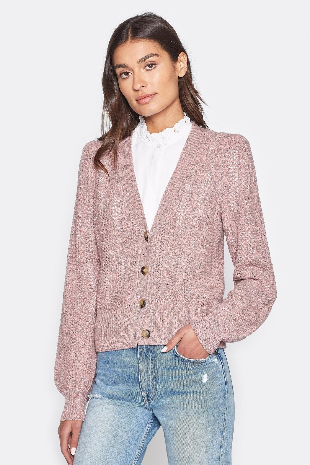 Folle de Joie Bilina Lilac Sweater - Front Cropped Image