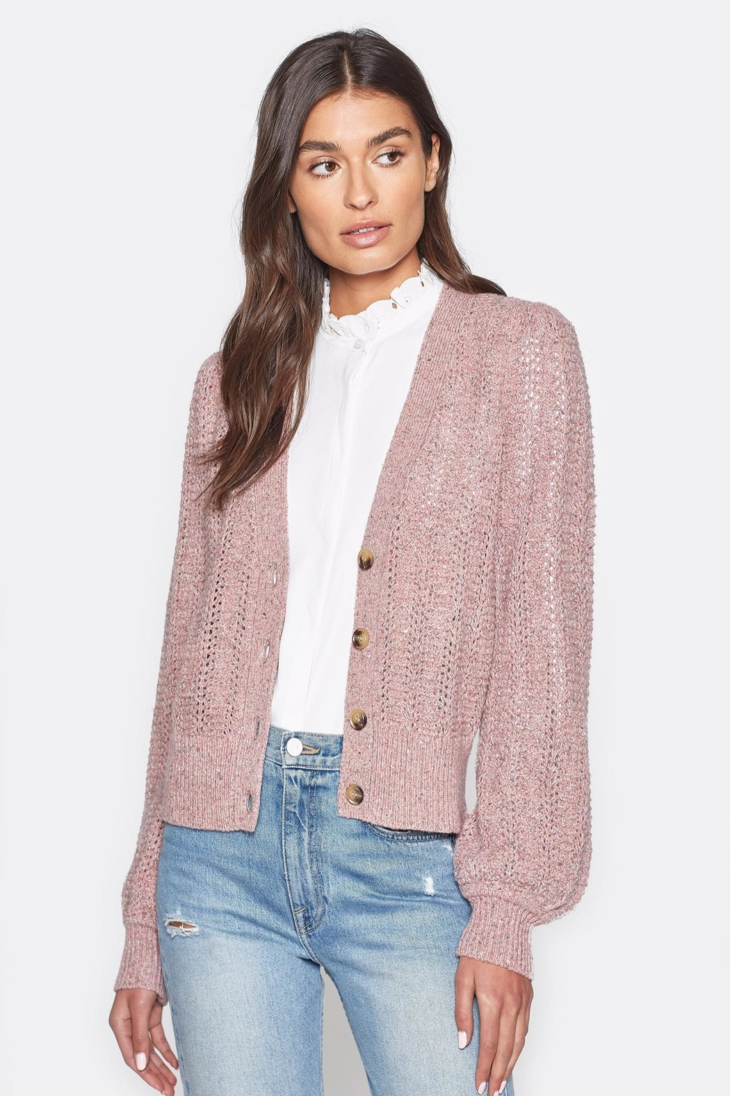 Folle de Joie Bilina Lilac Sweater - Side Cropped Image