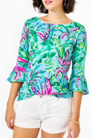 Lilly Pulitzer  Fontaine Bell Sleeve Top - Product Mini Image