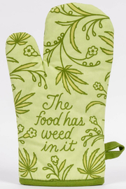 Blue Q Food has weed in it oven mitt - Product Mini Image