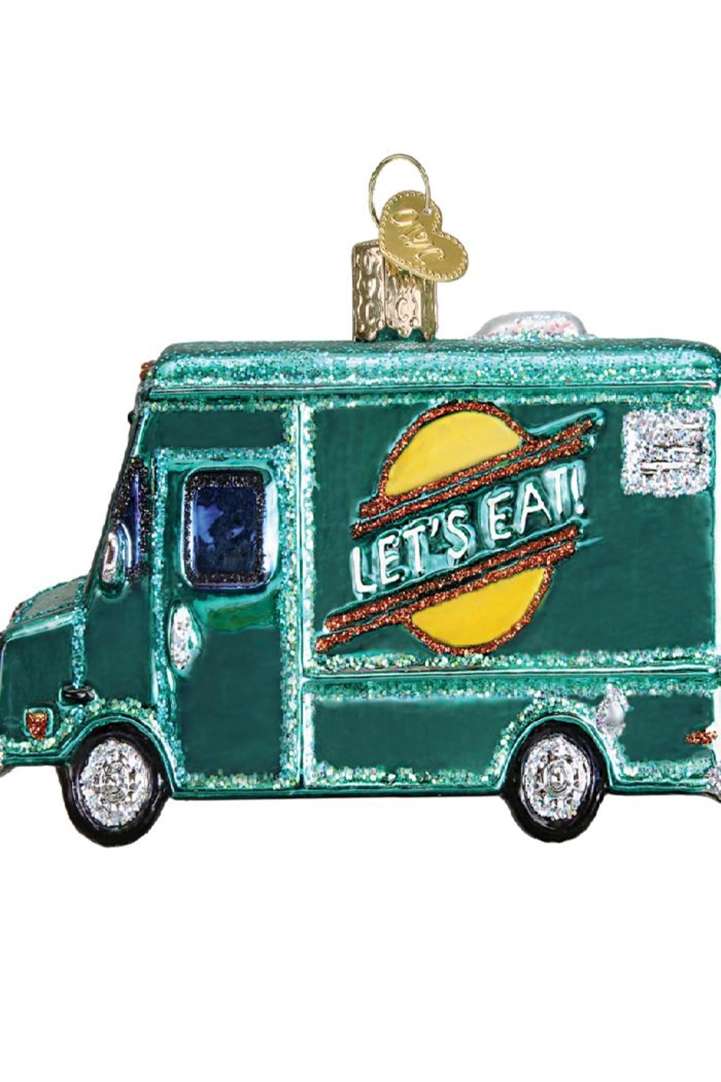 Old World Christmas Food Truck Ornament - Front Full Image