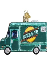 Old World Christmas Food Truck Ornament - Front full body