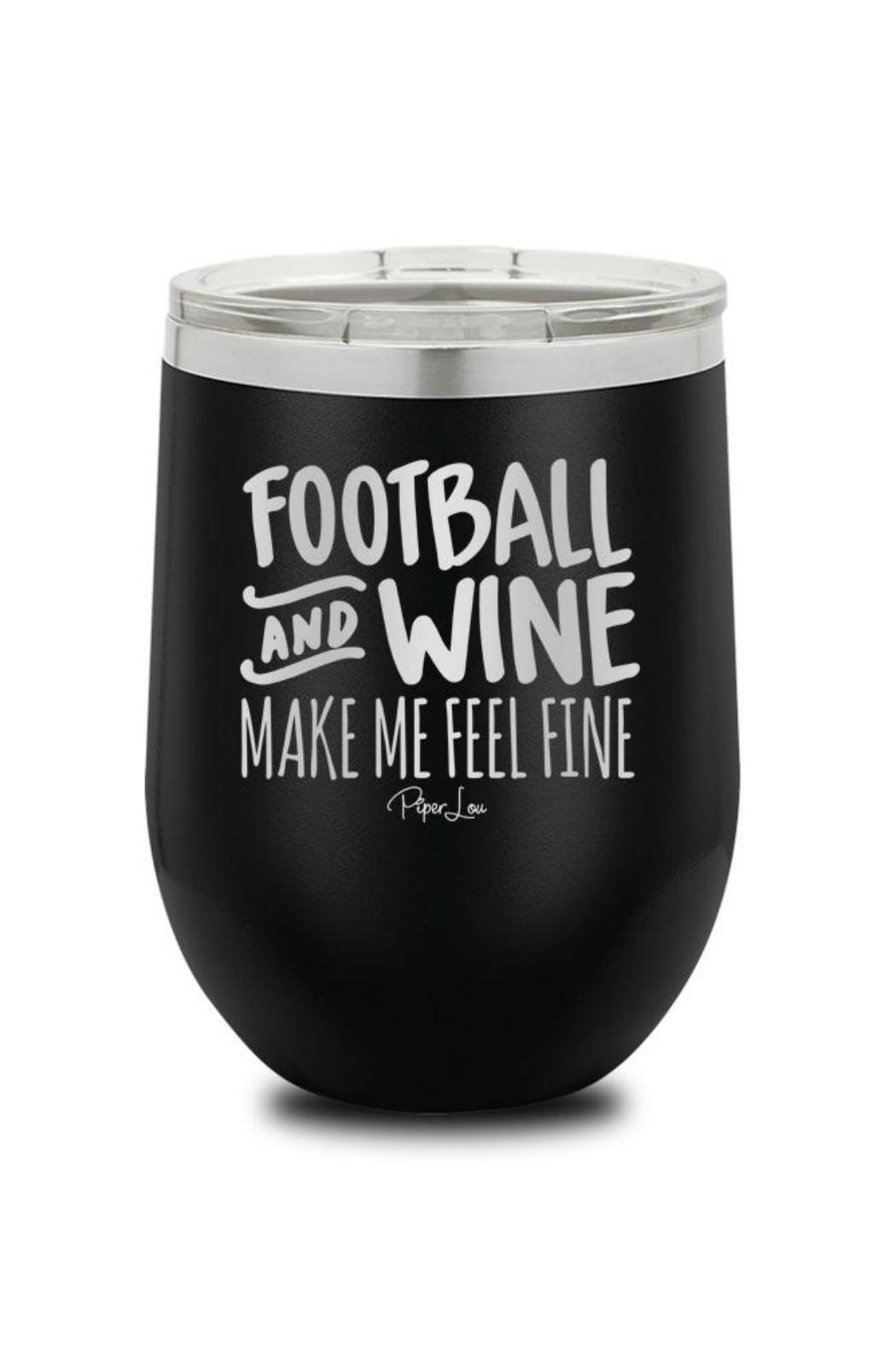 Piper Lou Football Wine Cup - Front Cropped Image