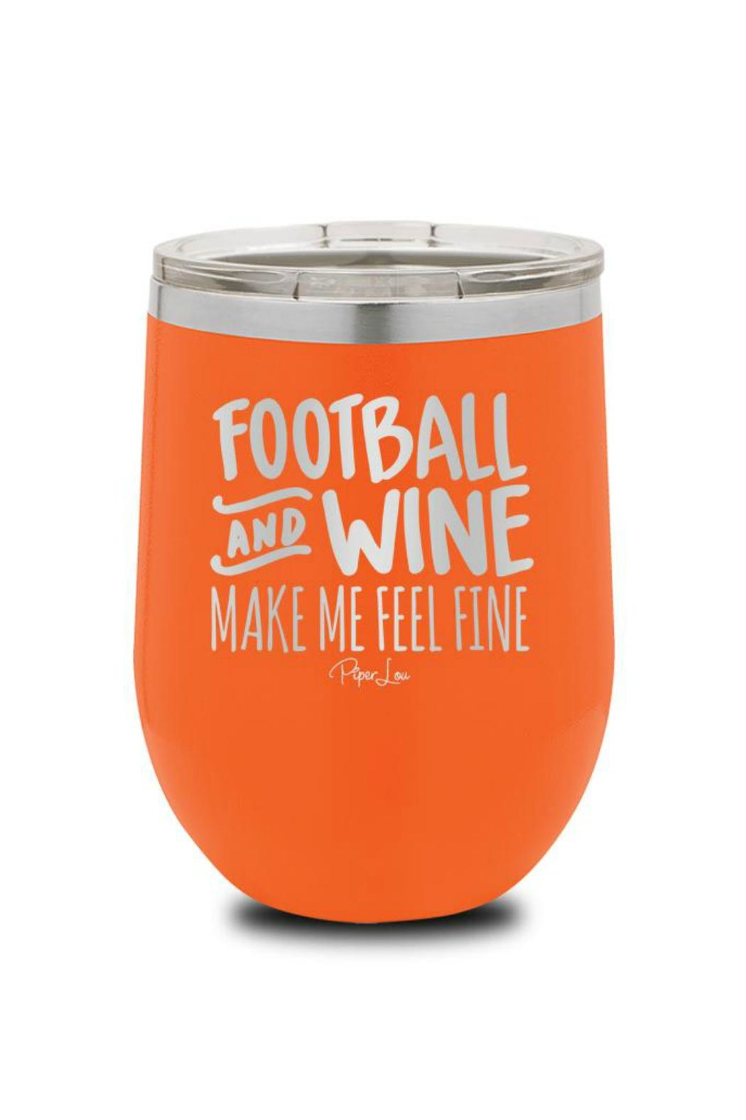 Piper Lou Football Wine Cup - Main Image