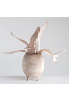 Shoptiques Product: Footed Paulownia Wood Vessel