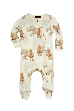 Shoptiques Product: Footed Romper Elephant-Wearing-A-Tutu