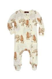 Milkbarn Kids Footed Romper Elephant-Wearing-A-Tutu - Front cropped