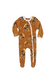 Milkbarn Footed Romper - Wooly Mammoth - Product Mini Image
