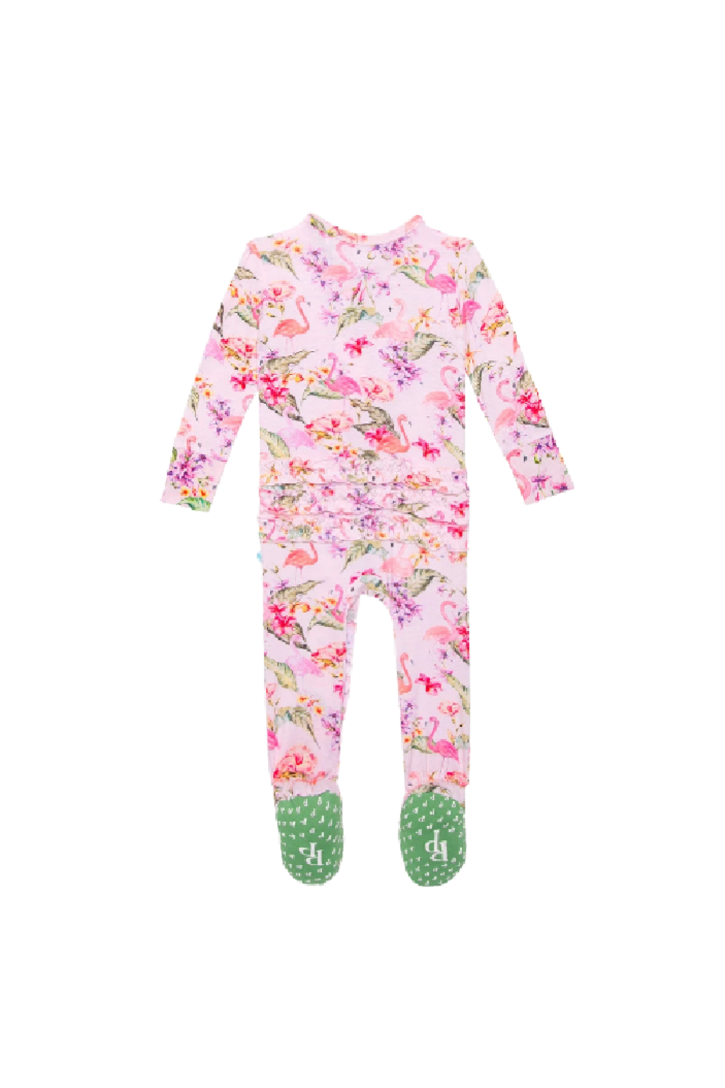 Posh Peanut Leilani Footie Ruffled Zippered One Piece - Front Full Image