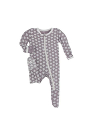 Kickee Pants Footie With Zipper - Quail Button Mushrooms - Product Mini Image