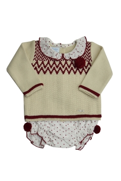 Shoptiques Product: Beige & Red Set Outfit