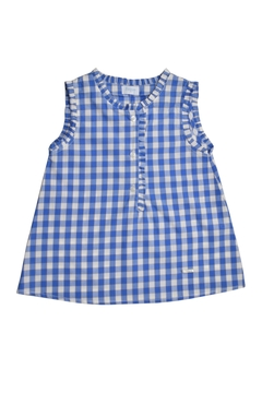 Foque Blue Gingham Blouse - Alternate List Image