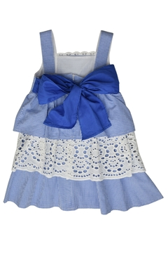 Foque Blue Gingham Dress - Alternate List Image
