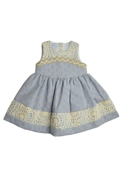 Foque Blue Jacquard Dress - Product List Image