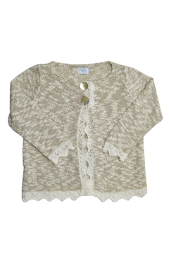 Foque Gold & White Knitted Top - Product List Image