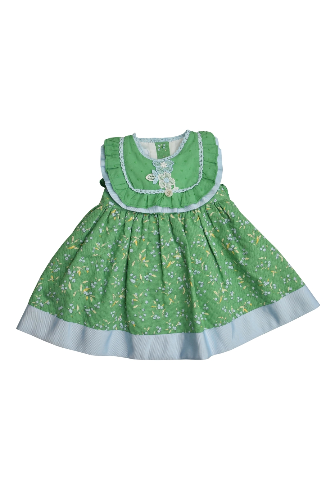 Foque Green Floral Dress - Main Image