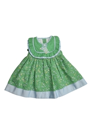 Foque Green Floral Dress - Front cropped
