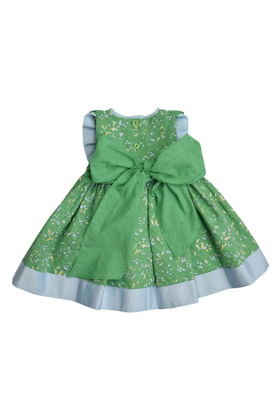 Foque Green Floral Dress - Front Full Image
