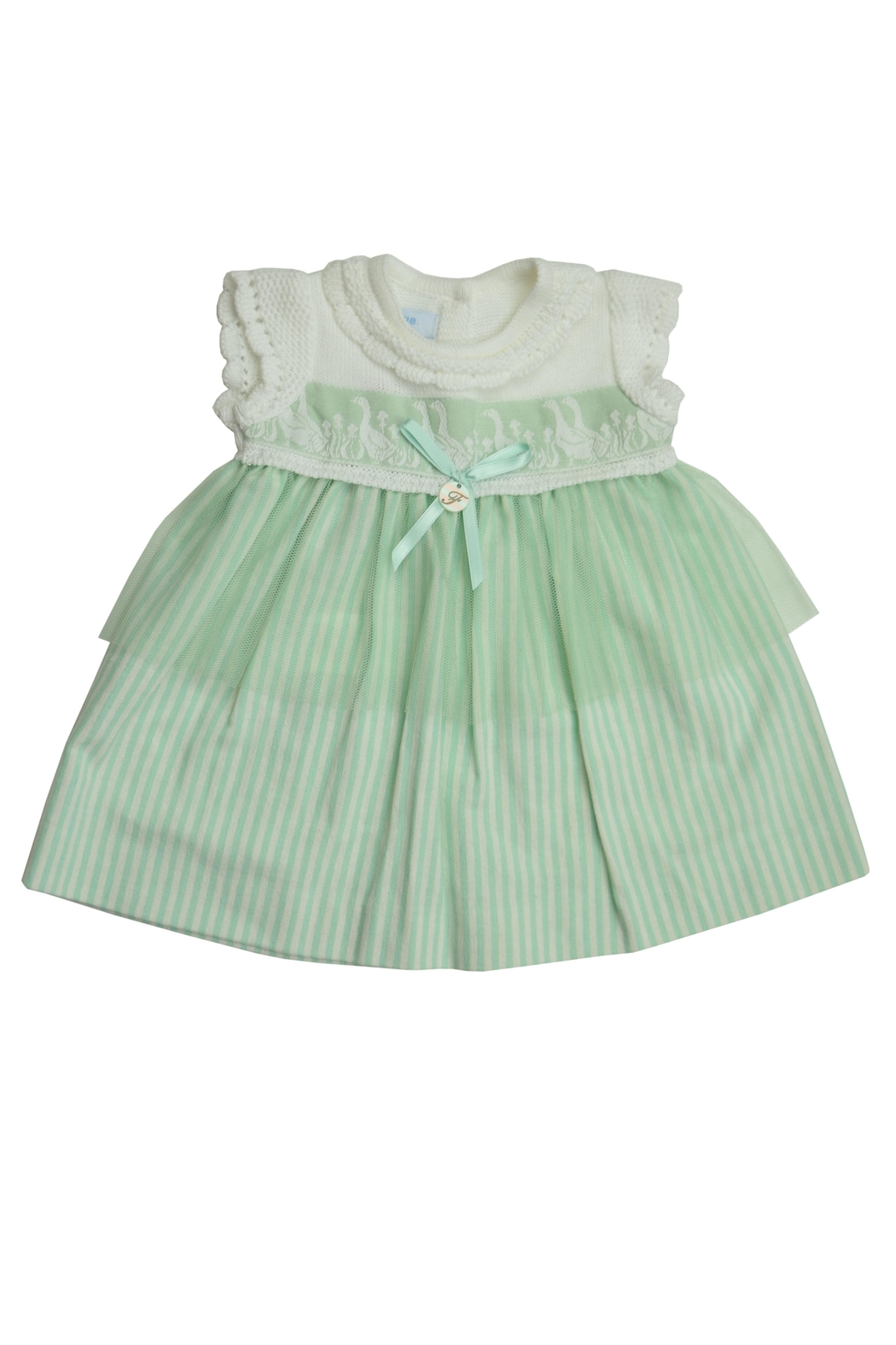Foque Green Goose Dress - Front Full Image