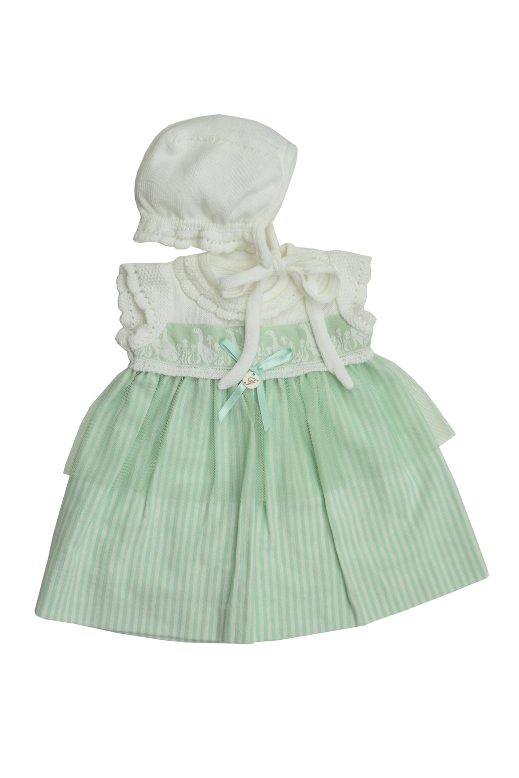 Foque Green Goose Dress - Front Cropped Image