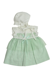 Foque Green Goose Dress - Front cropped