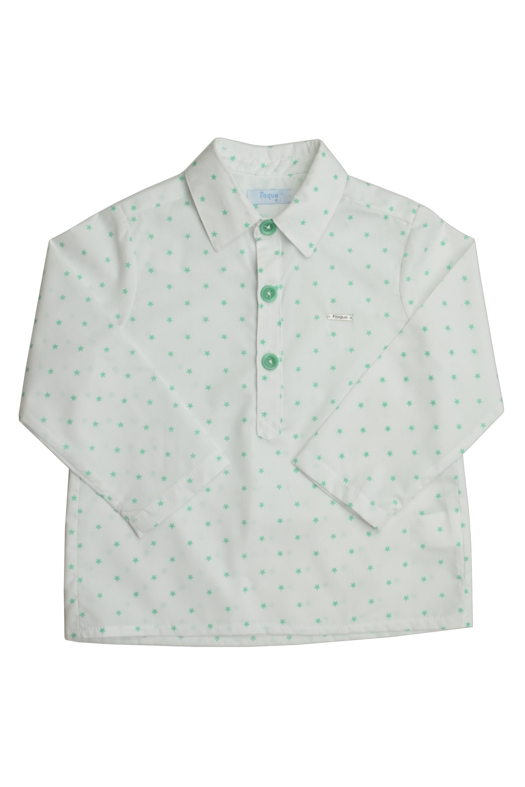 Foque Green Star Shirt - Front Cropped Image