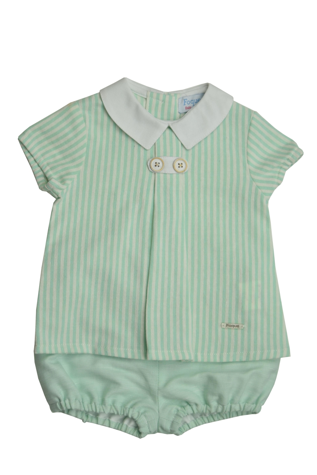 Foque Green Stripe Set - Front Cropped Image