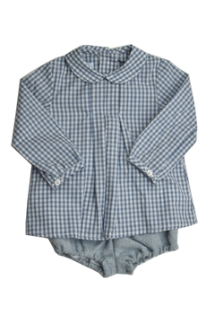 Shoptiques Product: Grey & Blue Gingham Set