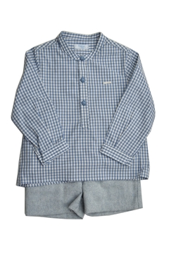 Foque Grey & Blue Gingham Set - Product List Image