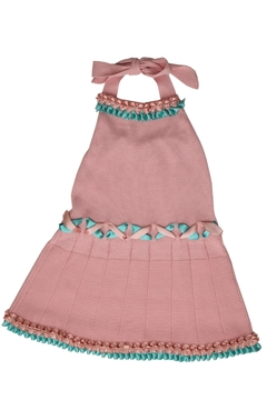 Foque Pink Halter Dress - Alternate List Image