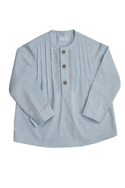 Foque Pleated Shirt Set - Front full body