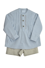 Foque Pleated Shirt Set - Front cropped