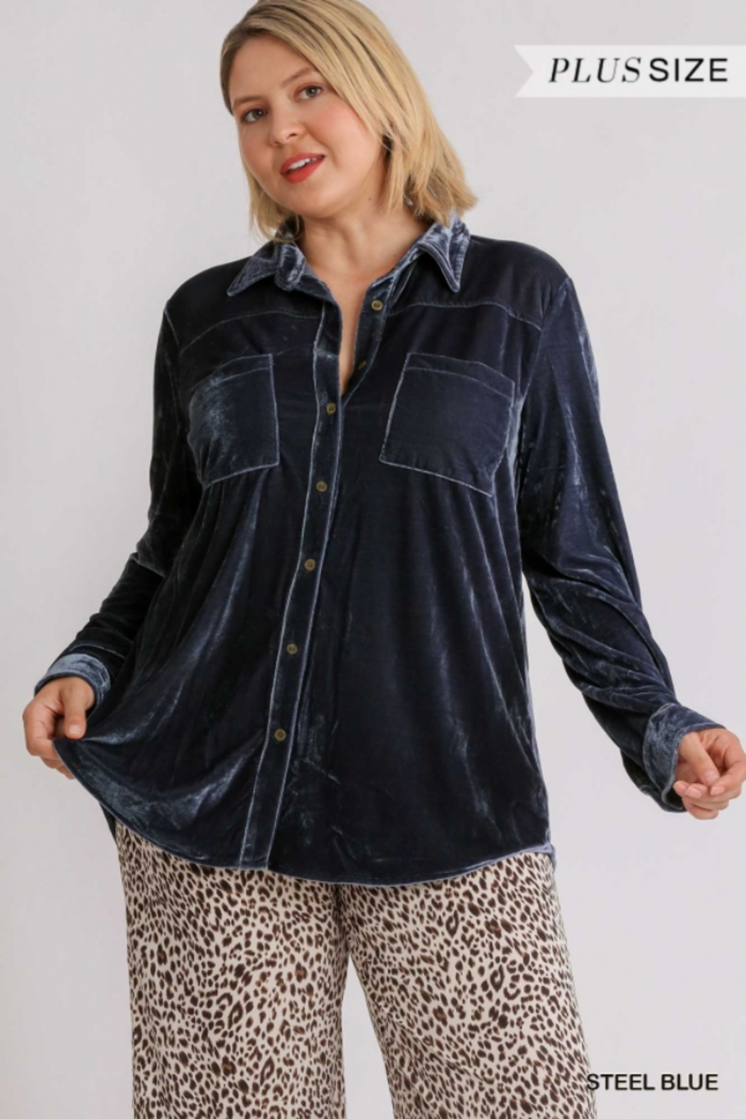 Umgee Plus For the love of Velvet - Front Cropped Image