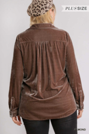 Umgee Plus For the love of Velvet - Back cropped