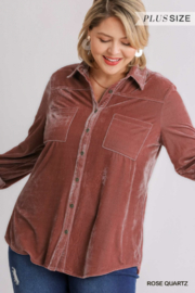 Umgee Plus For the love of Velvet - Front cropped