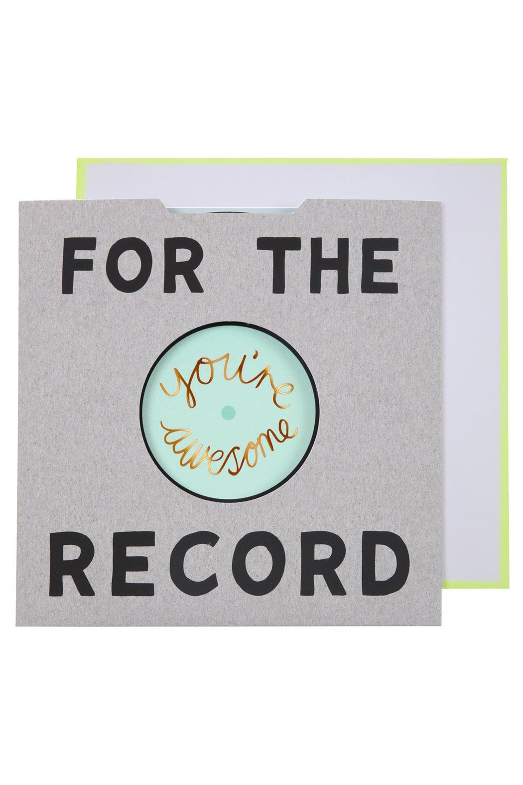 Meri Meri  For The Record Card - Front Cropped Image