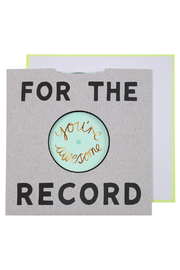 Meri Meri  For The Record Card - Front cropped