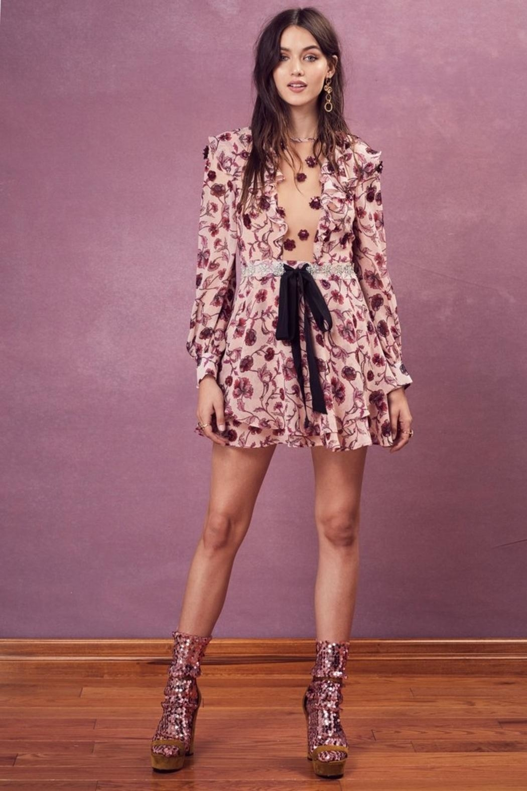 FOR LOVE & LEMONS Agnes Mini Dress - Main Image