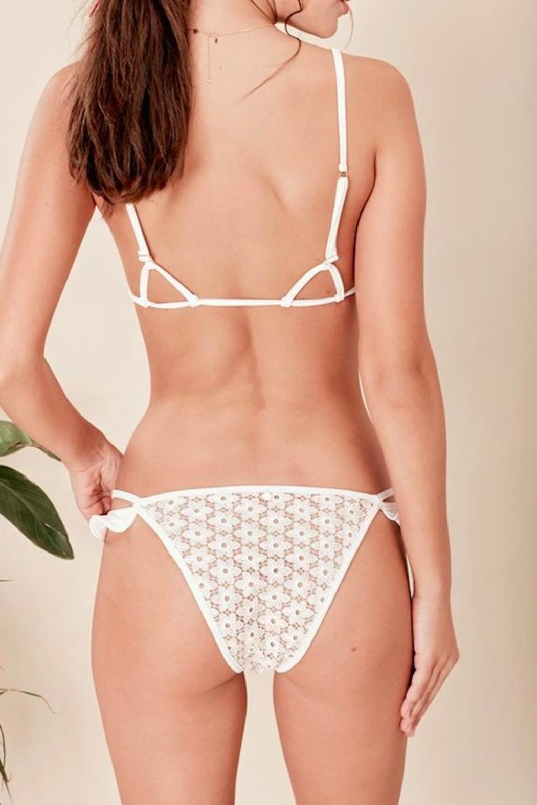 FOR LOVE & LEMONS Alicante Ruffle Bottom - Front Full Image