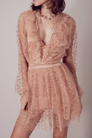 FOR LOVE & LEMONS All That Glitters Dress - Back cropped